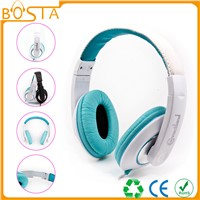 Portable promotion noise cancelling long wire headphone for computer