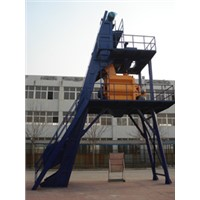 HZS35 semi automatic concrete mixing plant