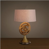 Handmade rope and Iron table lamp