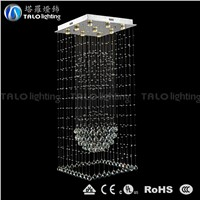 hot sale double ball  modern crystal pendant lamp LED chandelier