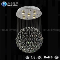 customized modern single ball crystal chandelier droplight LED pendant lamp