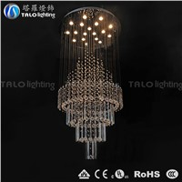 hotel room lighting large crystal  chandelier LED pendant lamp