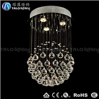 round ball modern crystal chandelier for bed room pendant lighting fixture