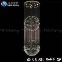 whole sale price round crystal LED chandelier modern pendant lamp