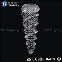 Chinese modern luxury crystal chandelier LED pendant lamp for living room