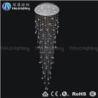 hot sale modern crystal chandelier LED long pendant light stair lamp