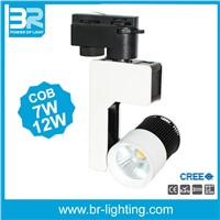 12W LED Track Spot lighting, COB Tracklight CREE COB Ra>90