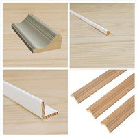 wood corner guards with different color for interior decoration
