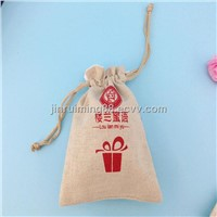 Drawstring jute tea bags for promotion