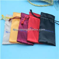 Wholesale Custom printed drawstring satin hair bag
