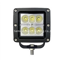 18W led work light,spot light, flood light, snow ground light,off road led lighting,4WD