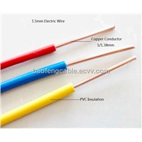 Low Voltage fire resistance Copper Conductor PVC Insulation Wire Cable