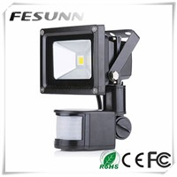 2015 new LED Floodlight 10W IP65 PIR Motion Sensor outdoor mini led flood light