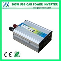 Portable 300W High Frequency Car DC AC Power Inverter (QW-300MUSB)