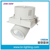 Recessed LED Downlight, Grillite 20W, 30W, 40W, COB Spotlight with Ra>90