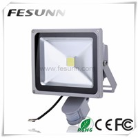Black or grey body led flood light 50w sensor motion floodlight, PIR led light