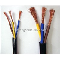 low voltage 3 cores PVC insulated electrical wire