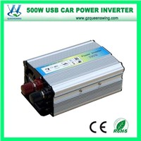 500W Power Inverter with Battery Clip & Car Lighter Plug (QW-500MUSB)