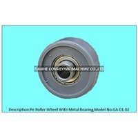 pe roller wheel with precision bearing, pe skate wheel with precision bearing