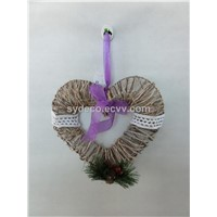 heart wreath, artificial heart, hanging ornament( 15SI424)