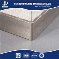 Aluminum skirting board for decoration