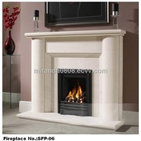 High quality hand carved stone fireplace