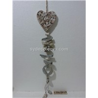 hanging ornament, hanging heart, home decoration (15SL0018)