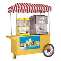 Beautiful outside Combination mobile ice cream cart ice cream truck and food warmer