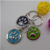 Custom round metal alloy key chains holder