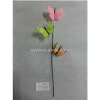 butterfly, butterfly spray,feather butterfly, artificial butterfly (15SK715)