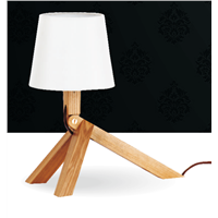 Fancy design White wooden table lamp