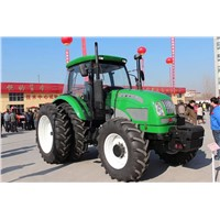 strong power 160hp farm wheel tractor with cabin