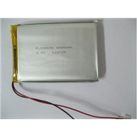 3.7V rechargeable polymer lithium battery pack 8Ah