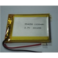 PL554050 1100mAh rechargeable polymer lithium battery 3.7V