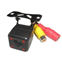 Car rearview camera with HD night vision 4 LED light reverse camera
