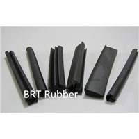 Rubber seal strip for trains
