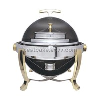 Catering serving dish / Gold chafing dish