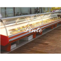 OEM factory supermarket commercial cooked food  heatting display case