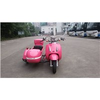 Pink color mini electric motorcycle sidecar