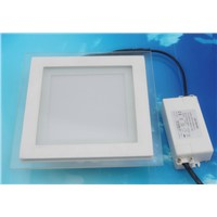 Square LED Ceiling Light With Color Glass