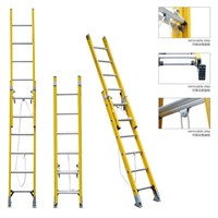 fiberglass extension ladder insulation stairs 2sections rope ladder 10feet high