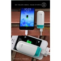 Portable mobile power bank 5200mAh external battery charger