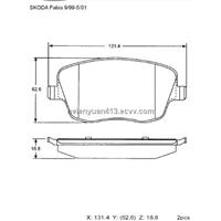 Disc Brake Pad for SKODA Fabia GDB1414