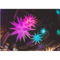 Lighted inflatable decorative stars with LED Lamp