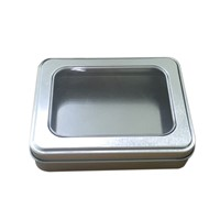 Rectangle Mini Tin Box With Window