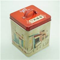 Square Tin Cab with handle