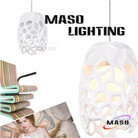 Contracted Indoor Bar resin pendant lights Gold Bronze Painting Color Indoor Lamp MS-P1009
