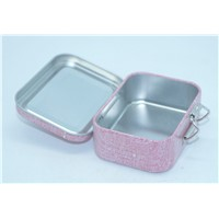 Hard candy tin box with hinge