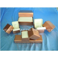 R series PU jewelry box in gift box packing