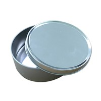 Small round candy tin box